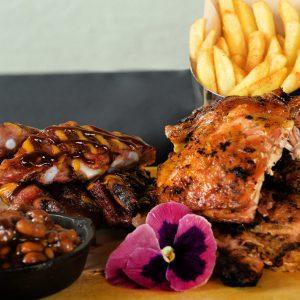 Rib & Chicken Dinner
